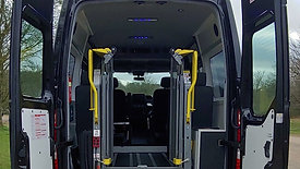5 seats Minibus with 3 wheelchair positions. Anti-bacterial finish, tinted windows