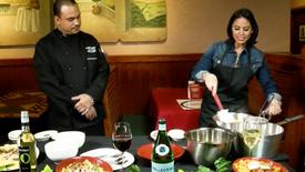 Adriana Davalos goes to Carrabbas Italian Grill