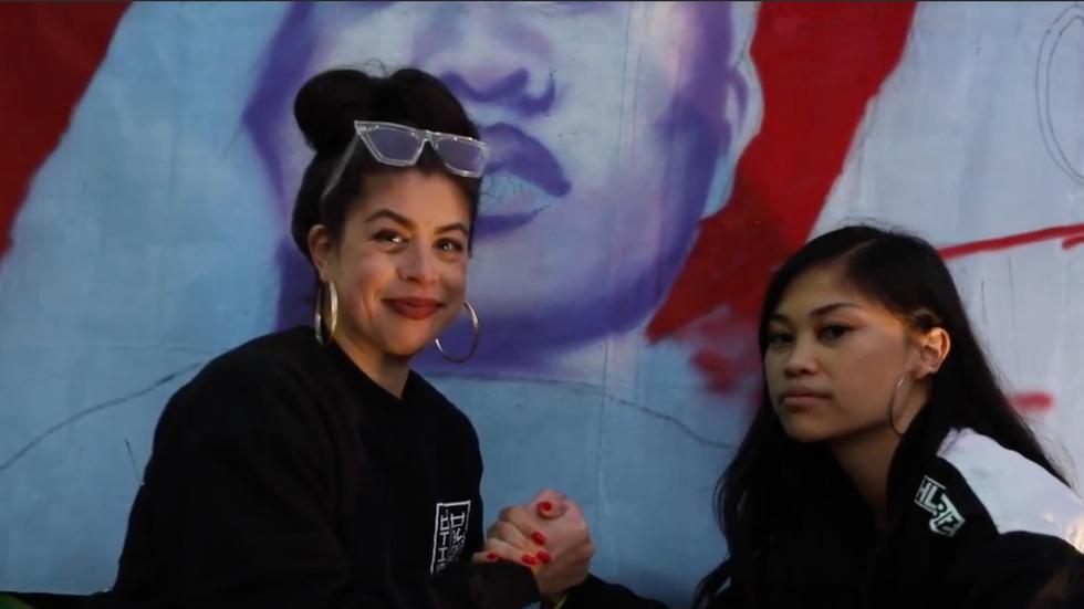 Ruby Ibarra ft. Sami See Pop Up Mural // Lokel Docs