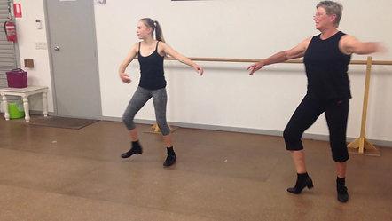 11. Shuffle Ball Heel Turning Step