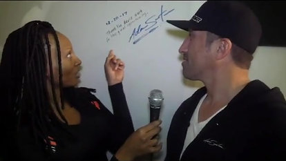 """Lulu Suga Your Carpet Host introduces the New signature wall over at @accelradio @adamzworld_art is…"""