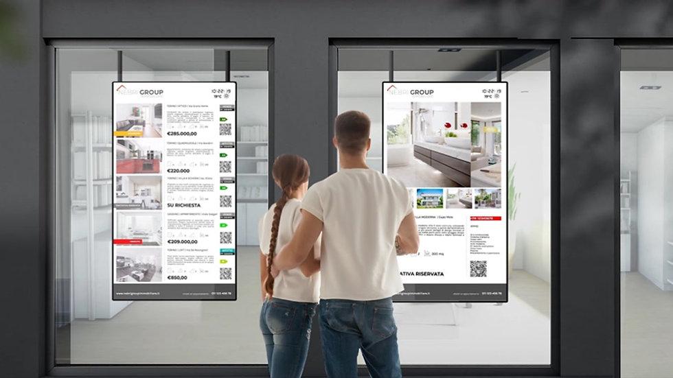 Digital Signage Agenzia Immobiliare Nebri-tech
