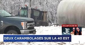L'autoroute 40 Est rouverte après deux carambolages-15 Fev 2018