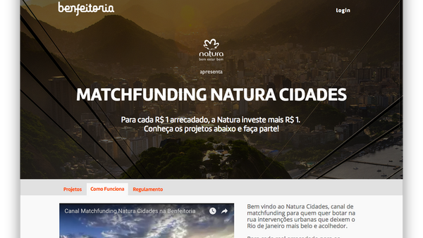 Canal de Matchfunding Natura Cidade
