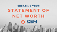 Creating Your Statement of Net Worth