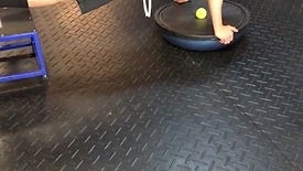 Elevated Bosu Plank With Alternating Leg LIfts