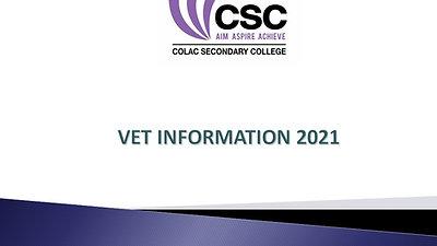VET information 2021