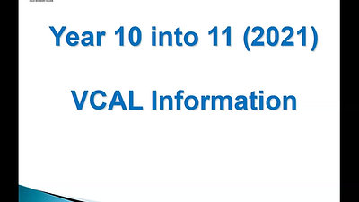 VCAL Information