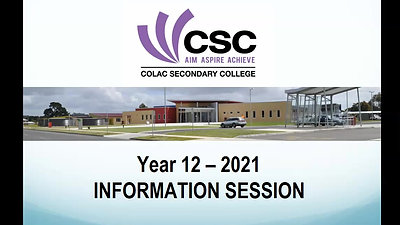 YEAR 11 into YEAR 12 Information