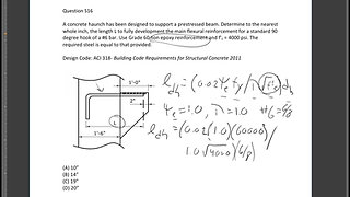 Civil PE Exam Structural Depth Guided Example: Development Length
