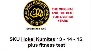 HOKEI KUMITES 13 14 & 15