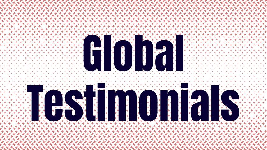 Global Testimonials