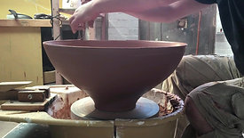 The throwing, turning, glazing and firing of a large stoneware bowl...From start to finish.