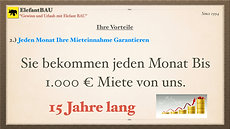 "ElefantBAU ""Gewinn und Urlaub mit Elefant BAU"""