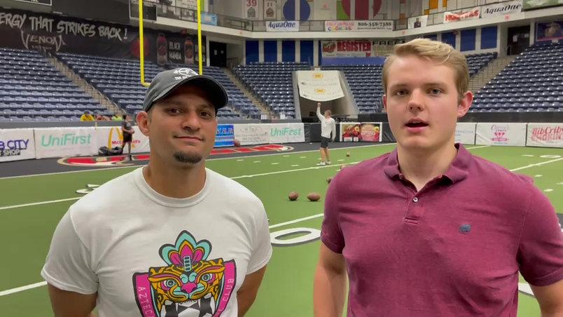 Press Pass Sports intern Kolby Marting interviews former New York Jets kicker Sergio Castillo on his dedication to helping local kickers