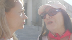 Anjelica Huston at the Women's March