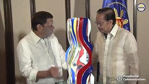 Turnover of Ramon Orlina's 'Sagisag ng Bayan – 2019' Sculpture Rizal Hall, Malacañan Palace November 29, 2019  Facebook