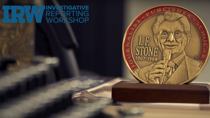 Charles Lewis Receives the I.F.  Stone Award