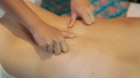 Person Getting A Body Massage