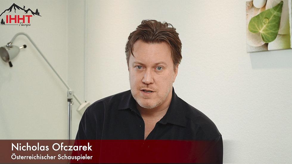 Nicholas Ofczarek über seine Erfahrung mit der IHHT Therapie
