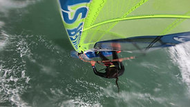 No handed backloop windsurfing