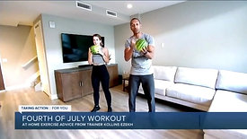 Kollins Ezekh & Natalie Corbin 4th of July Workout