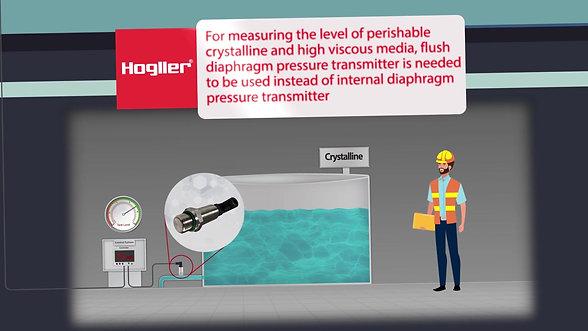 Hydrostatic Level Measurment in Open Tanks