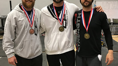 The Zion Barbell Bearded Beanies took a trip up to snow infested Northern Utah @provenstrength today and participated in the State Oly Event. What a good time.  We came away with medals and podium spots @rdana02 with a 1st beating his own state recor