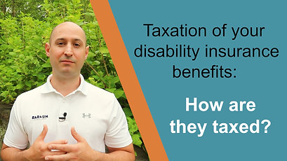 The Taxation of Disability Income benefits