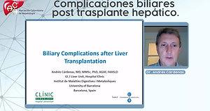 Complicaciones biliares post trasplante hepático