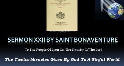 St Bonaventure Sermon