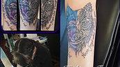 Wolf tattoo by Amanda