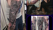 2 day sleeve challange  tattoo by Amanda