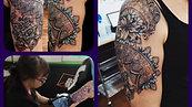 Lace tattoo  tattoo by Amanda
