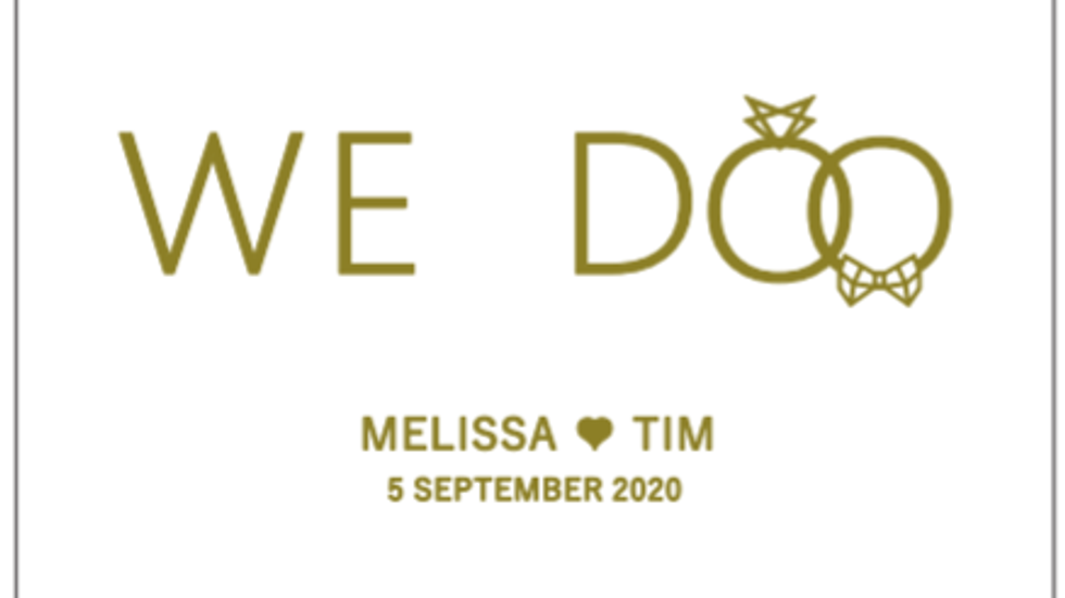 Livestream trouw ceremonie Melissa en Tim - 5 september 2020