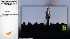 Malcolm Gladwell - Outliers Talking about the 10,000 hour rule