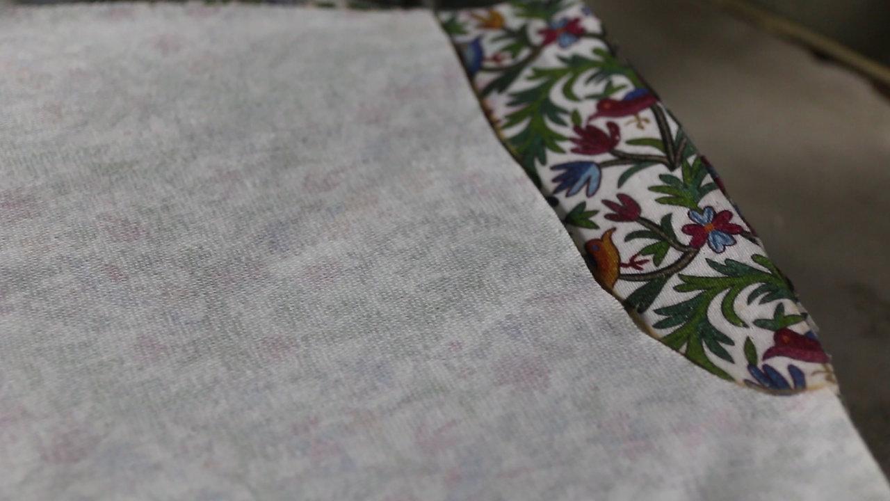 Cutting our beautiful Neelum fabric