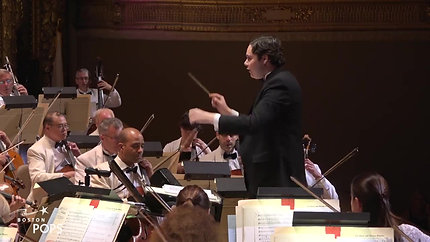 Benjamin P. Wenzelberg Conducting the Boston Pops Orchestra in Leonard Bernstein's Overture to Candide!