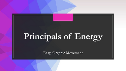 Masterclass - Principals of Energy by Brendon Midson