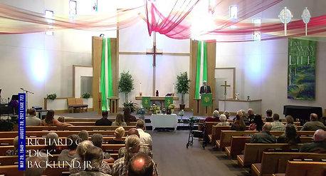 Funeral Service for Richard C. Backlund, Jr.