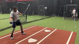 Baseball - Live Arm BP - L Screen RH Hitter with Strobe Training Glasses