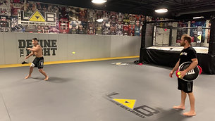 MMA/Boxing - Tennis Ball Spin Kick (after Strobe Training)