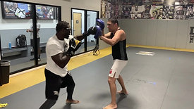 MMA/Boxing - Sparring with Strobe Training Glasses