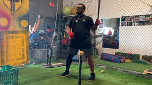 Baseball - Tee Work on High Level of Occlusion with Strobe Training Glasses