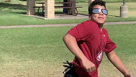 Football - Pass Tracking & Catching with Strobe Training Glasses