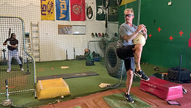 Balance & Hold Over Rubber - Pitching Drill with Strobe Training Glasses