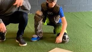 Baseball - Catchers Heavy Ball Drill with Strobe Training Glasses