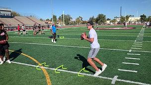 Quarterback Left Hurdle Shuffle Throw - Balance & Focus