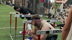 Dynamic Warmup Hurdle Hip Mobility Drill