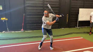 Baseball - LH One Hand Swing Drill with Strobe Training Glasses